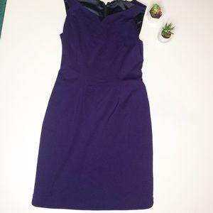 Elie Tahari 8 Sweetheart Purple Sheath Dress